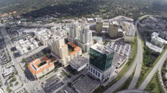 Aerial video of Datran Miami business center Stock Footage