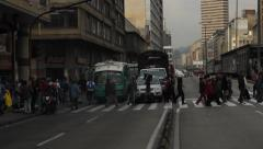 Afternoon  downtown Bogota Colombia Stock Footage