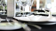 Stock Video Footage of Fine Dining Table Setting