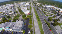 Aerial video of the Pinecrest Parkway Stock Footage