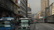 Stock Video Footage of Afternoon  Rush hour downtown Bogota Colombia