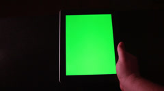 Tablet with Green Screen Stock Footage