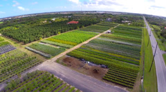 Aerial video of Homestead farmland and lots - stock footage