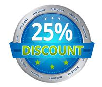 25 percent discount - stock illustration