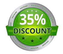 35 percent discount Stock Illustration