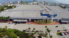 Aerial video of the Miami Beach convention center - stock footage