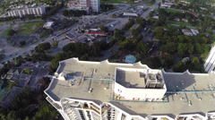 Flying over NMB Stock Footage