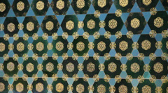 Turkey Ephesus Bursa Yesil Camii tile detail c Stock Footage
