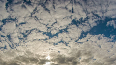 spotted clouds time lapse HD - stock footage