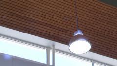 Interior lighting fixtures round hanging Stock Footage