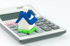 Home loan calculator Stock Photos