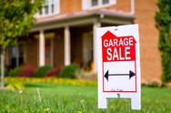 Stock Photo of garage sale sign