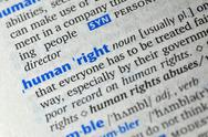 Stock Photo of human right word on book