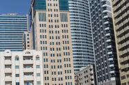 Stock Photo of modern buildings in sharjah