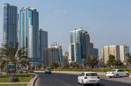 Stock Photo of modern buildings in sharjah uae