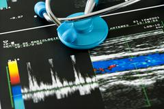 doppler test of an artery - stock photo