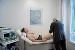 cardiology consultation man - stock photo
