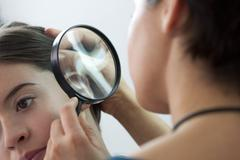 dermatology, symptomatology, wom - stock photo