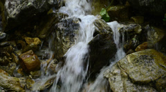 Small waterfall at Zillertal Alps Stock Footage