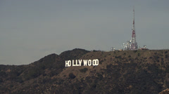 The famous Hollywood sign in Los Angeles, California Stock Footage