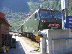 Station of Flåm in Norway - stock photo