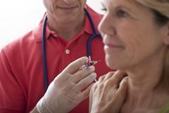 influenza vaccine - stock photo