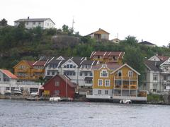 Hollyday houses in the south of Norway Stock Photos