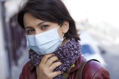 prevention, mask - stock photo