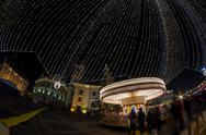 Stock Photo of Merry-go-round with long shutter speed at the Christmas Fair in Hermannstadt, Tr