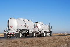 Big Truck Hauling Crude Oil Stock Photos