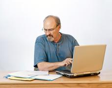 Hidas kirjoittaminen Liikemies Kuvituskuvat