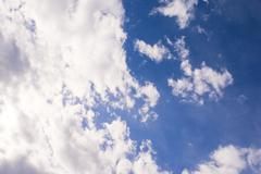 Coudy Sky With Blue Gradient Stock Photos
