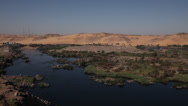 Stock Video Footage of Panoramic view of the Nile near Aswan, Egypt