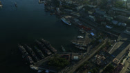 Stock Video Footage of Flight over the Vladivostok Harbor