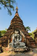 inwa ancient temple, myanmar - stock photo