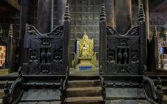 bagaya kyaung in inwa, myanmar - stock photo