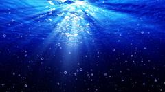 4K Underwater Bubbles Big 40 seconds LM21 Loop Sunlight - stock footage