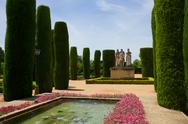Stock Photo of gardens at the alcazar in cordoba, spain
