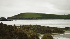 Sea stone and coast view Stock Footage