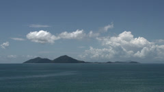 Clouds time lapse above Dunk Island in mission beach - stock footage