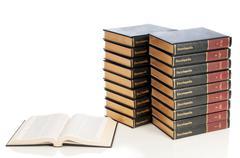 Set of Encyclopedias - stock photo