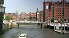 Hafencity Hamburg,Internationales Maritimes Museum Hamburg - stock footage