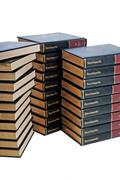 Encyclopedia Set In Three Stacks - stock photo
