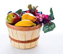 Basket Containing Fruit Stock Photos