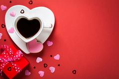 Valentines day composition Stock Photos