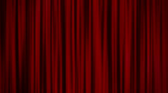 Red Curtains Stock Footage