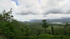 Pan from a lookout stop driving from townsville to airlie beach, Australia Stock Footage