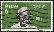 Stock Photo of postage stamp showing the portrait of mahatma gandhi