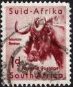 Stock Photo of postage stamp showing an african wildebeest
