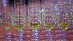 Several glasses Stock Footage